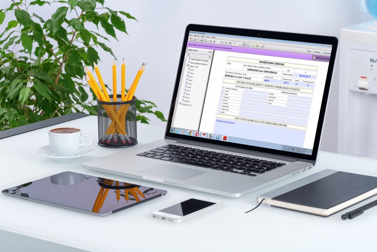 Građevinski dnevnik u PDF formatu
